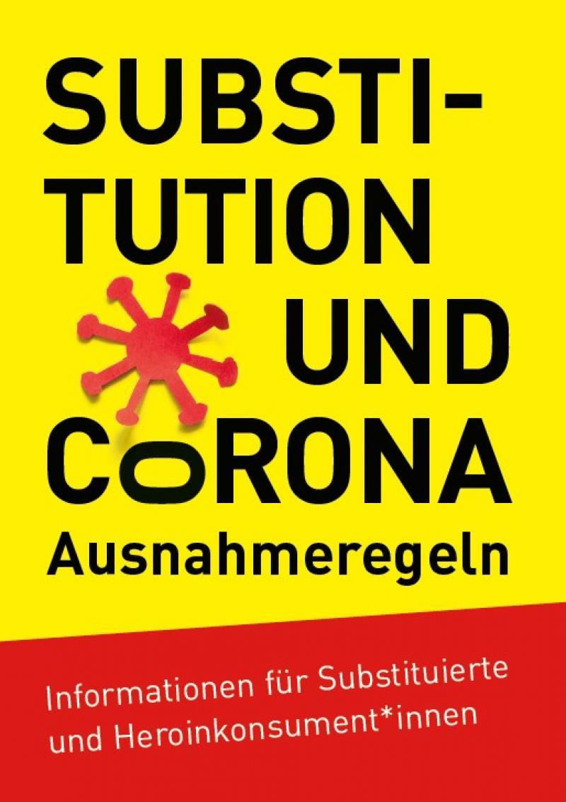 Gelber Hintergrund auf dem der Titel aufgedruckt ist. Darunter ein Abschnitt rot, auf dem der ein weiterer Informationstext aufgedruckt ist