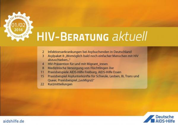 Coverbild. HIV-Beratung aktuell. Ausgabe 2016 01/02.