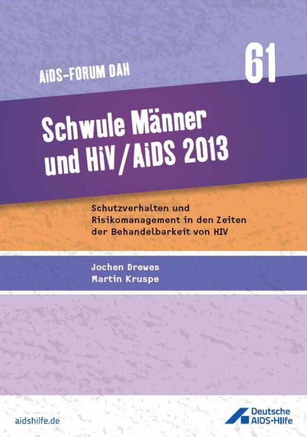 """Titelbild Forumsband 61 """"Schwule Männer und HIV / AIDS 2013"""""""