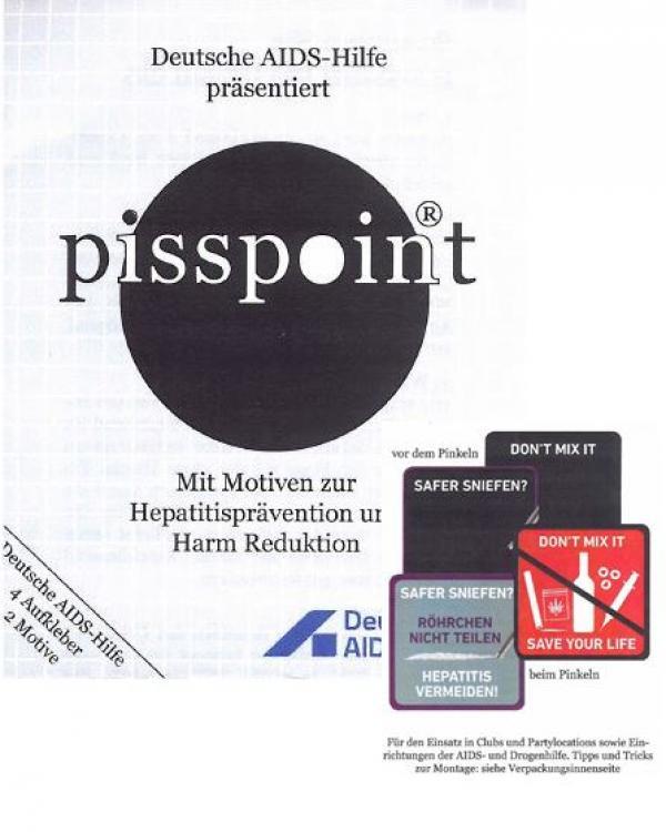 Darstellung der Pisspoints vor und nach Kontakt mit Urin