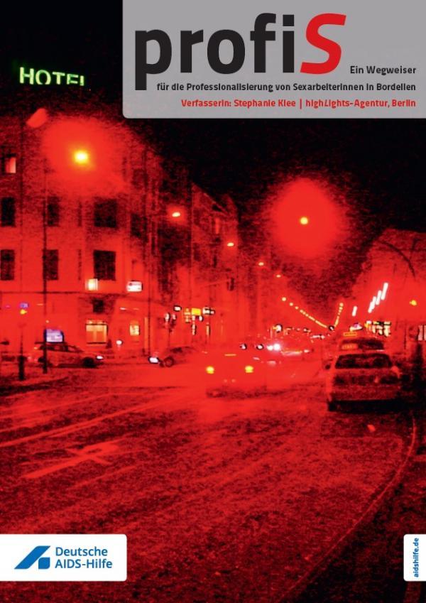 """Straße in rotem Licht. Titel """"profiS - Ein Wegweiser"""""""