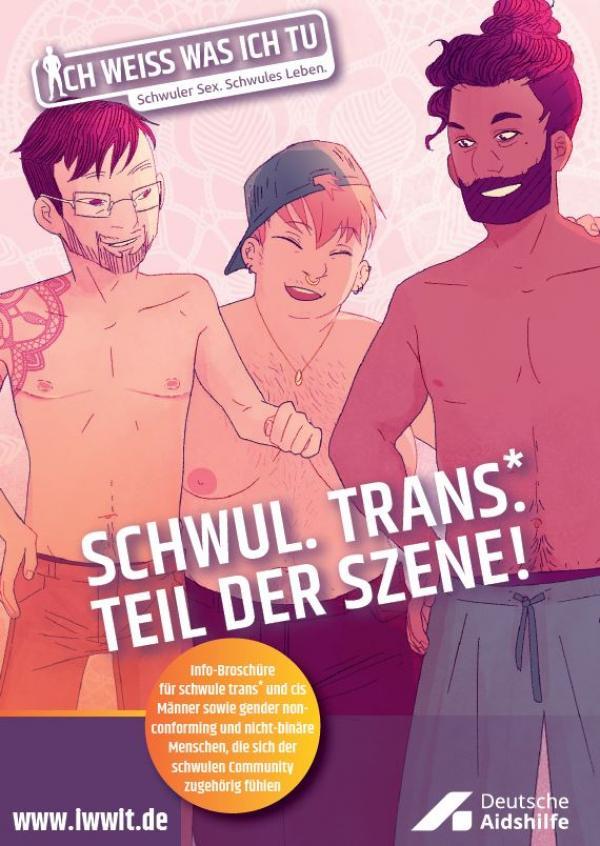 Schwul. Trans.* Teil der Szene!