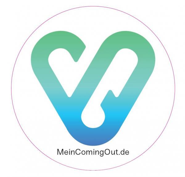 Symbol der Kampagne Herzensmenschen/Coming Out. Lenticular-Effekt.