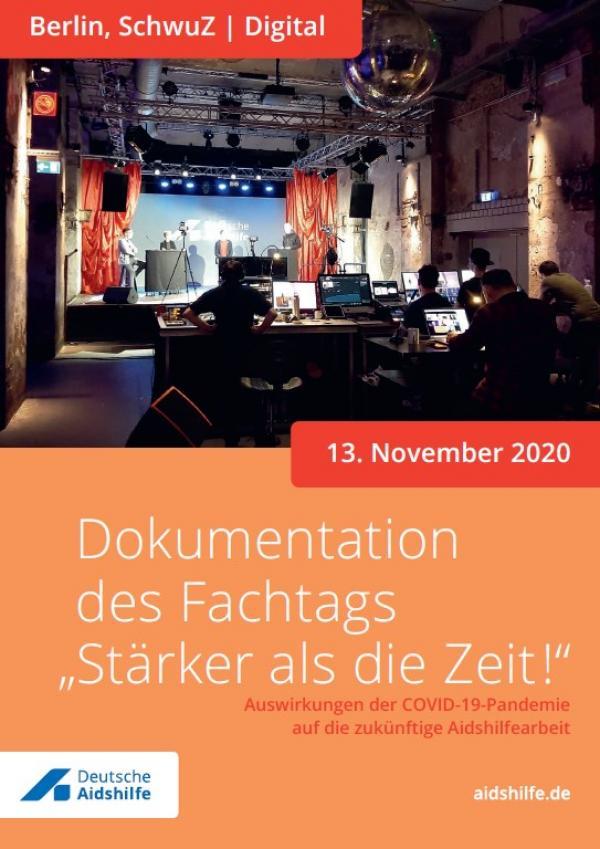 """Fot des Veranstaltungsraumes für das Onlineforum. Titel Dokumentation des Fachtags """"Stärker als die Zeit!"""""""