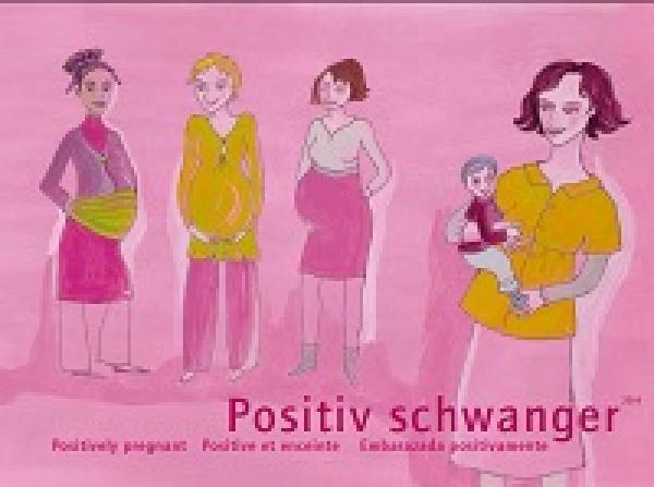 Positiv schwanger (deutsch / englisch / französisch / spanisch)