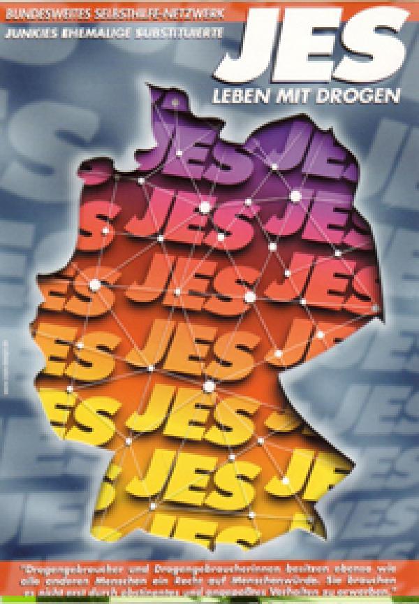 Postkarte JES - Leben mit Drogen