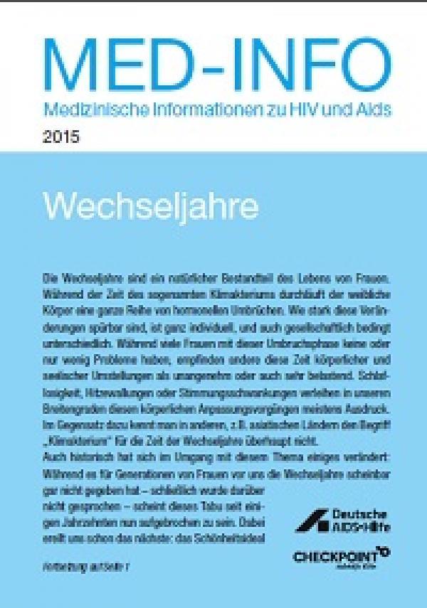 Med-Info Nr. 85 - Wechseljahre
