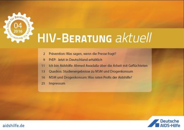 """Online Text """"HIV-Beratung aktuell"""" mit den Themen der aktuellen Ausgabe"""