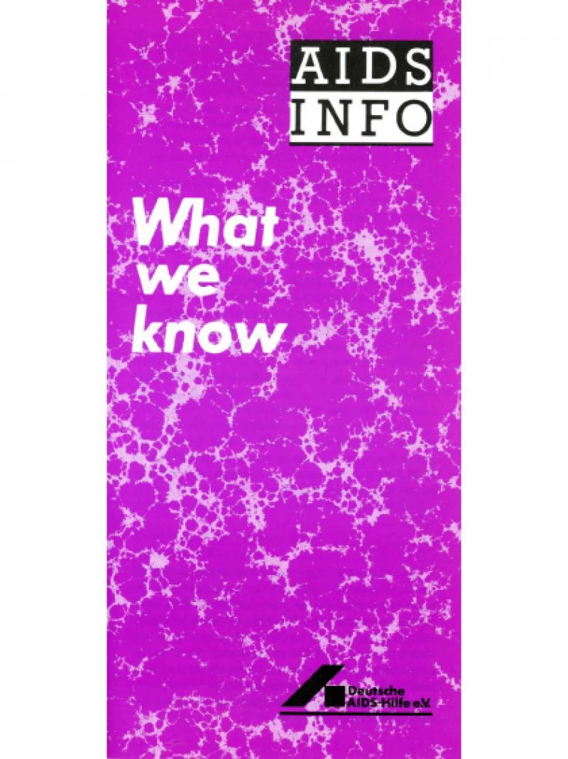 AIDS Info - Heutiger Wissensstand (englisch) 1988