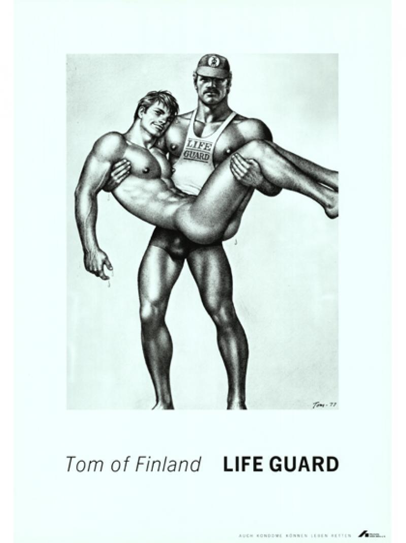 Tom of Finland - Life Guard - Auch Kondome können Leben retten 1991