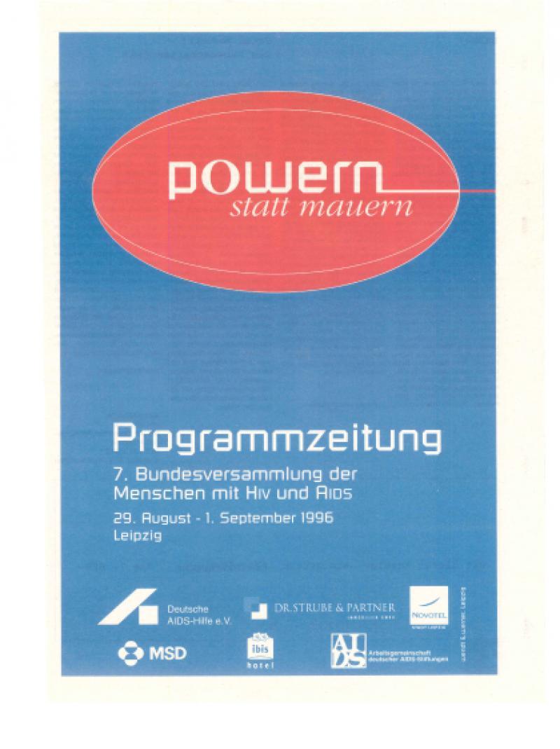 Powern statt mauern - 7. Bundesversammlung... - Programmzeitung 1996