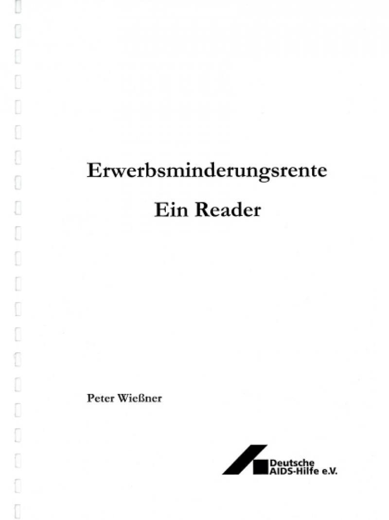 Erwerbsminderungsrente - ein Reader 2001