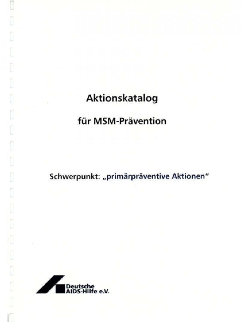 Aktionskatalog für MSM-Prävention 2007