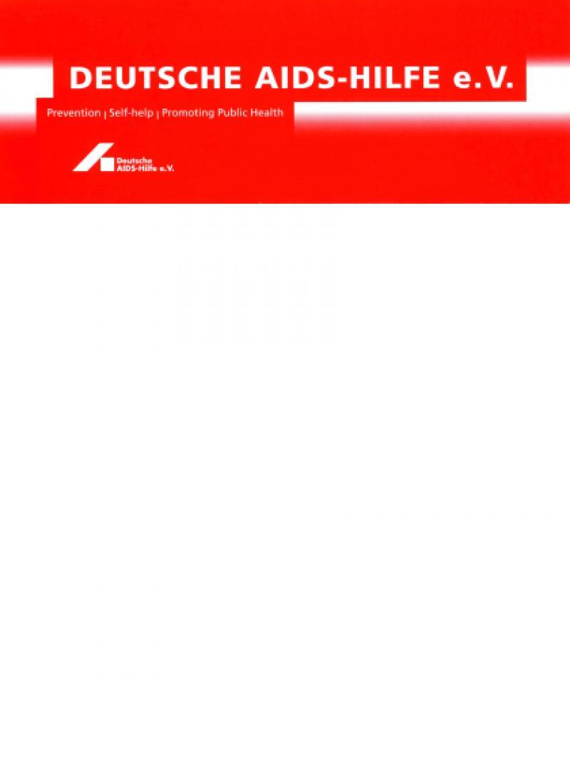 Deutsche AIDS-Hilfe e.V. - Selbstdarstellung englisch 2009
