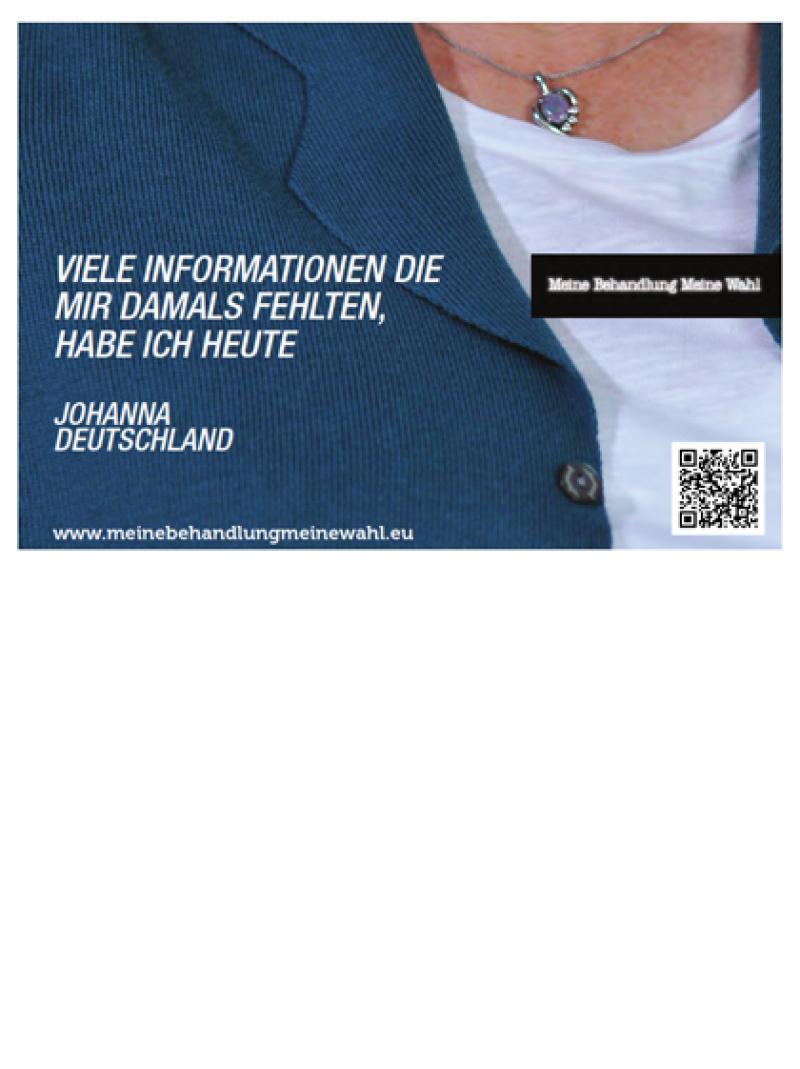 Meine Behandlung - meine Wahl - Motiv Johanna 2012