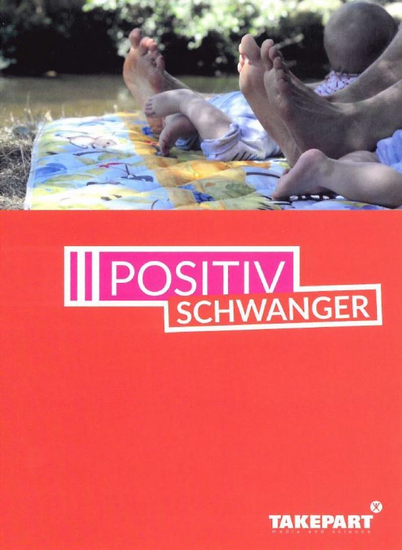 Positiv Schwanger - Der Film. Cover au fdem die Füße von zwei Menschen auf einer Picknick-Decke im Park zu sehen sind