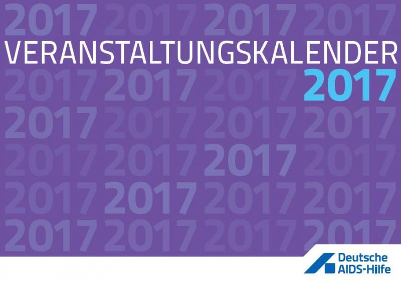 """Weisse Schrift auf violettem Hintergrund mit der Aufschrift """"Veranstaltungskalender 2017"""""""