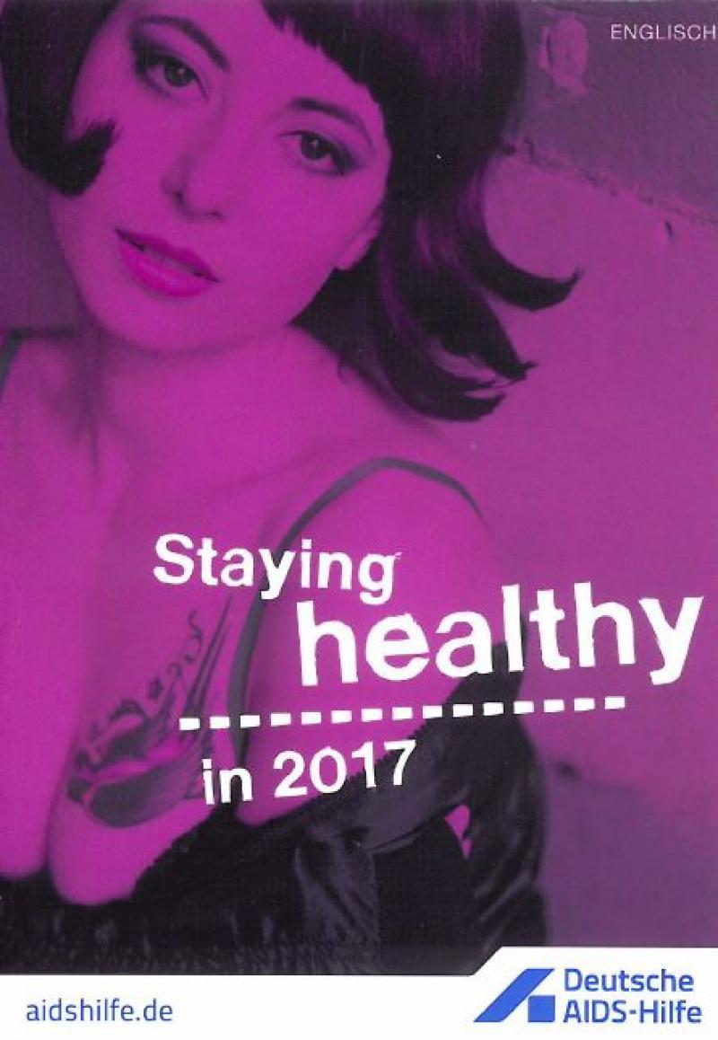 """Titelblatt mit einer Sexarbeiterin, Titel """"Gesund durchs Jahr 2017"""""""