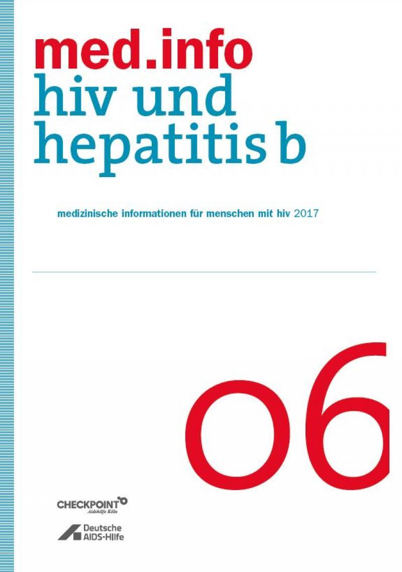 """Weisser Hintergrund mit Titelaufschrift """"med.info 06 - HIV und Heptatitis B"""""""