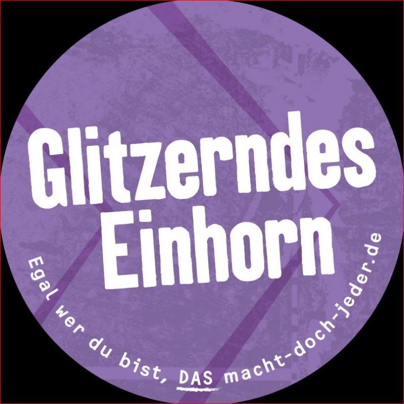"""Aufkleber """"Glitzerndes Einhorn"""""""