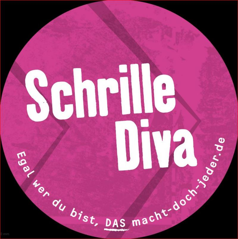 """Aufkleber mit Aufdruck """"Schrille Diva"""""""