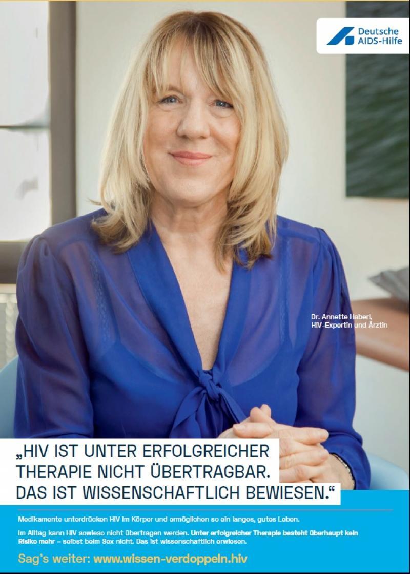 Welt-Aids-Tag 2019: Wissen verdoppeln (HIV ist unter erfolgreicher Therapie nicht übertragbar)
