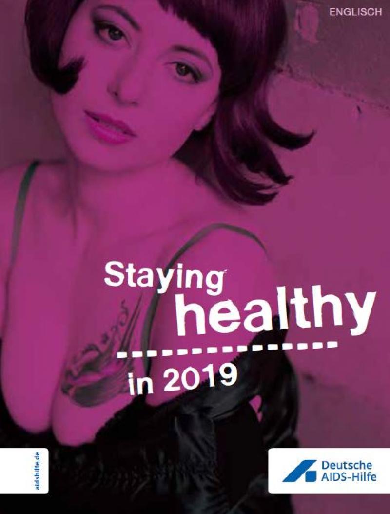 """Bild einer Prostituierten. Titel """"Gesund durchs Jahr 2019"""" (Englisch)"""