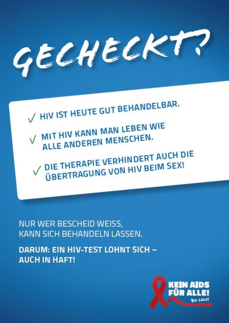 """Blauer Hintergrund, Weißer Balken mit den Themen, Titel """"Gecheckt?"""""""
