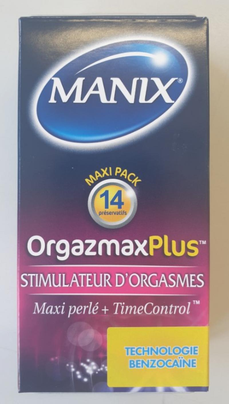 Kondomschachtel, MANIX Orgazmax Plus 14er