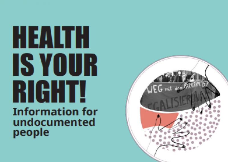 """Foto von Demonstranten. Titel """"Health is your right!"""""""
