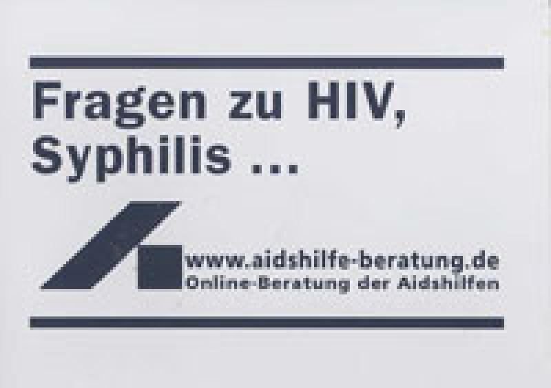 Aufkleber Fragen zu HIV, Syphilis...