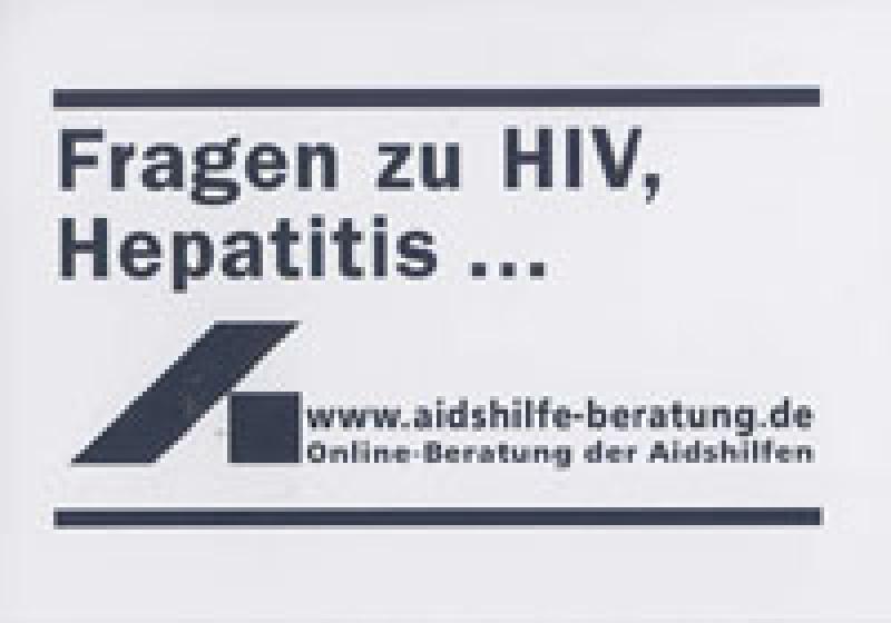 Aufkleber Fragen zu HIV,Hepatitis...