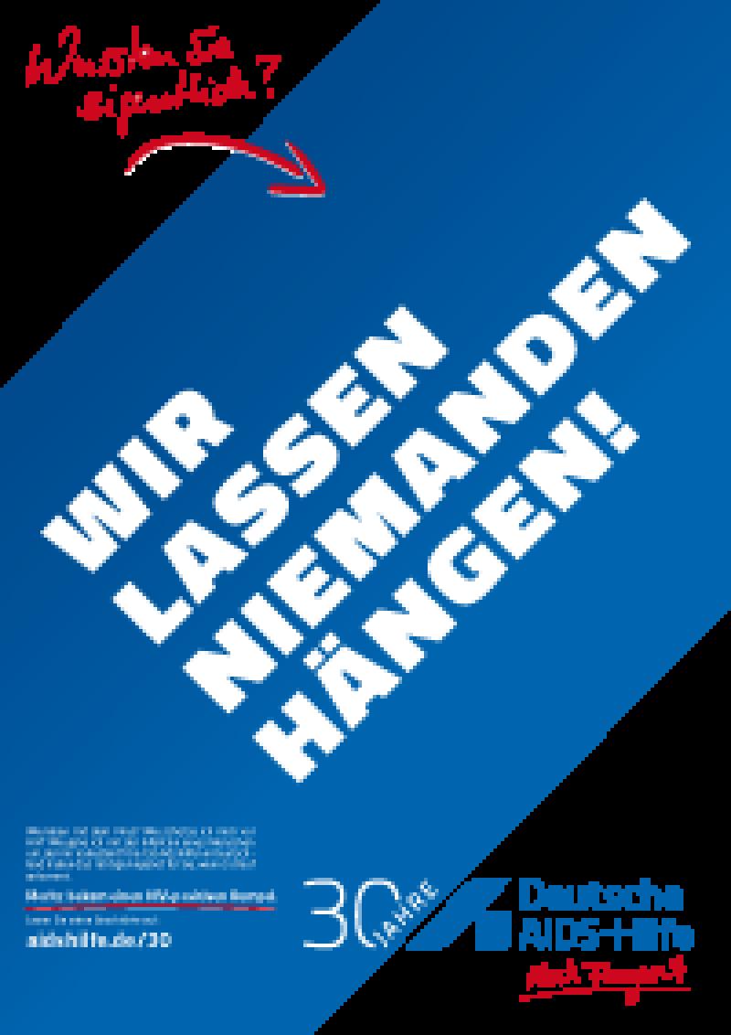 "Plakat A2 ""Wir lassen niemanden hängen"""