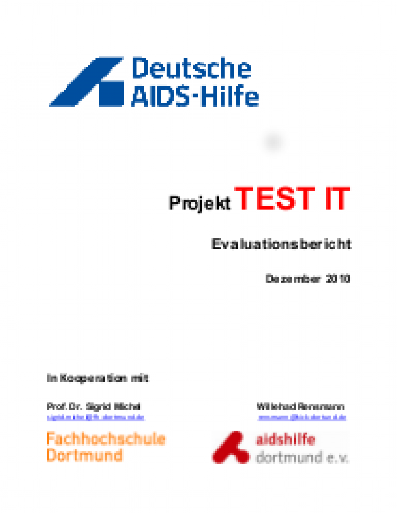 "Cover Projekt ""Test it"" Evaluationsbericht"