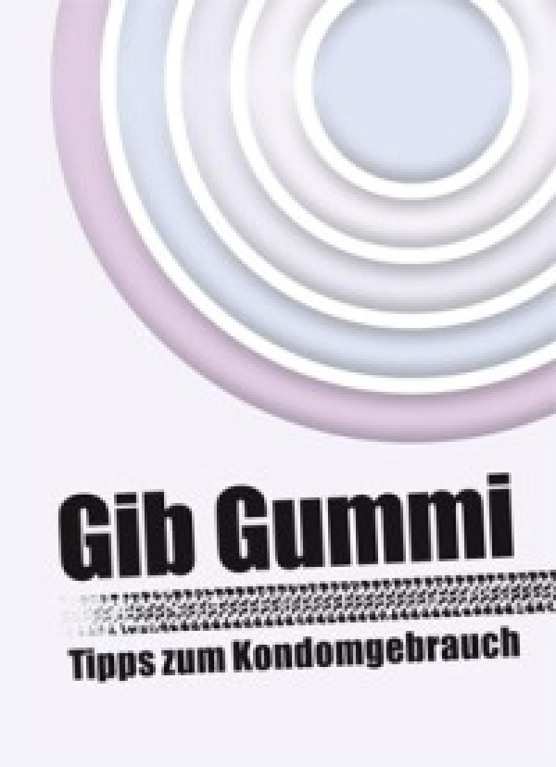 Leporello Gib Gummi Tipps zum Kondomgebrauch