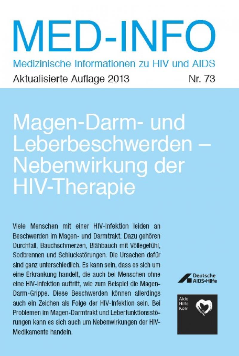 Med-Info Nr. 73 - Magen-Darm- und Leberbeschwerden : Nebenwirkung der HIV-Therap