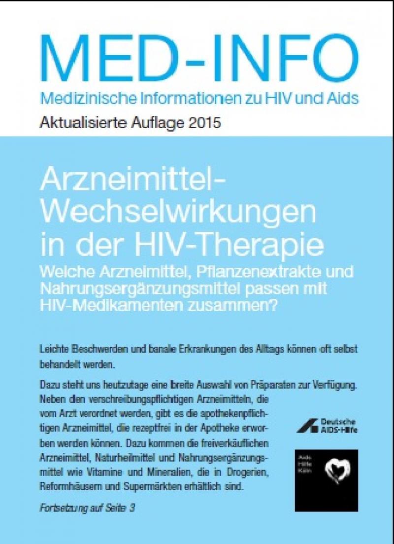 Med-Info Nr. 56 - Arzneimittel-Wechselwirkungen in der HIV-Therapie