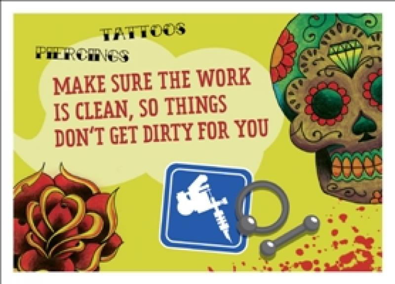 Sauber arbeiten lassen! englisch