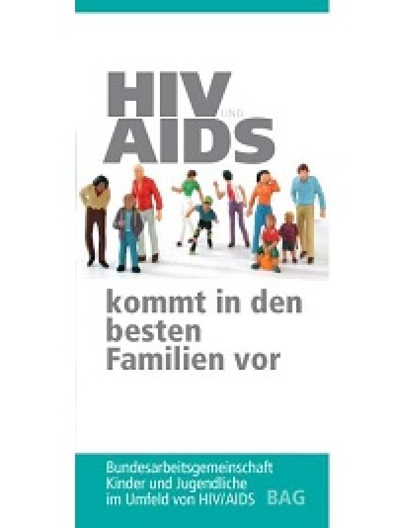 """Flyer der """"BAG Kinder und Jugendliche im Umfeld von HIV/AIDS"""""""