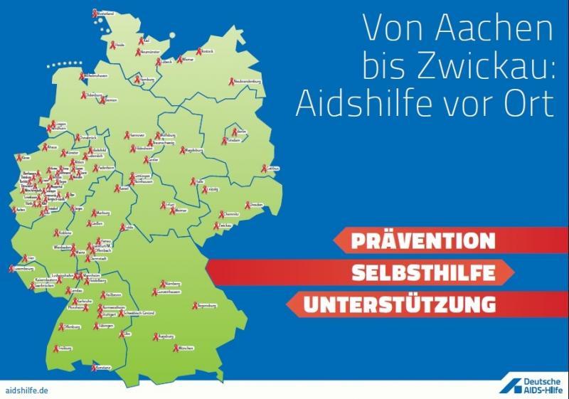 Von Aachen bis Zwickau: Aidshilfe vor Ort