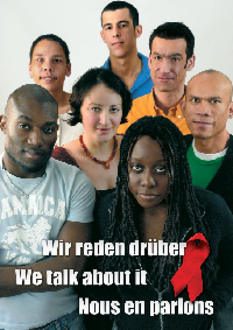 Plakat Wir reden drüber deutsch Vorschau