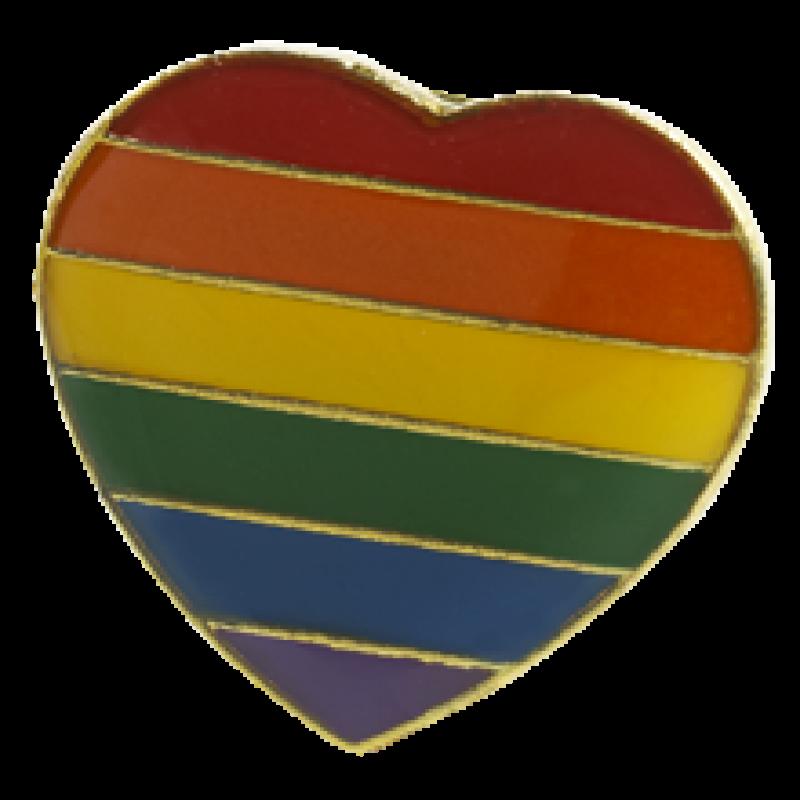 Regenbogen Pin in Herzform