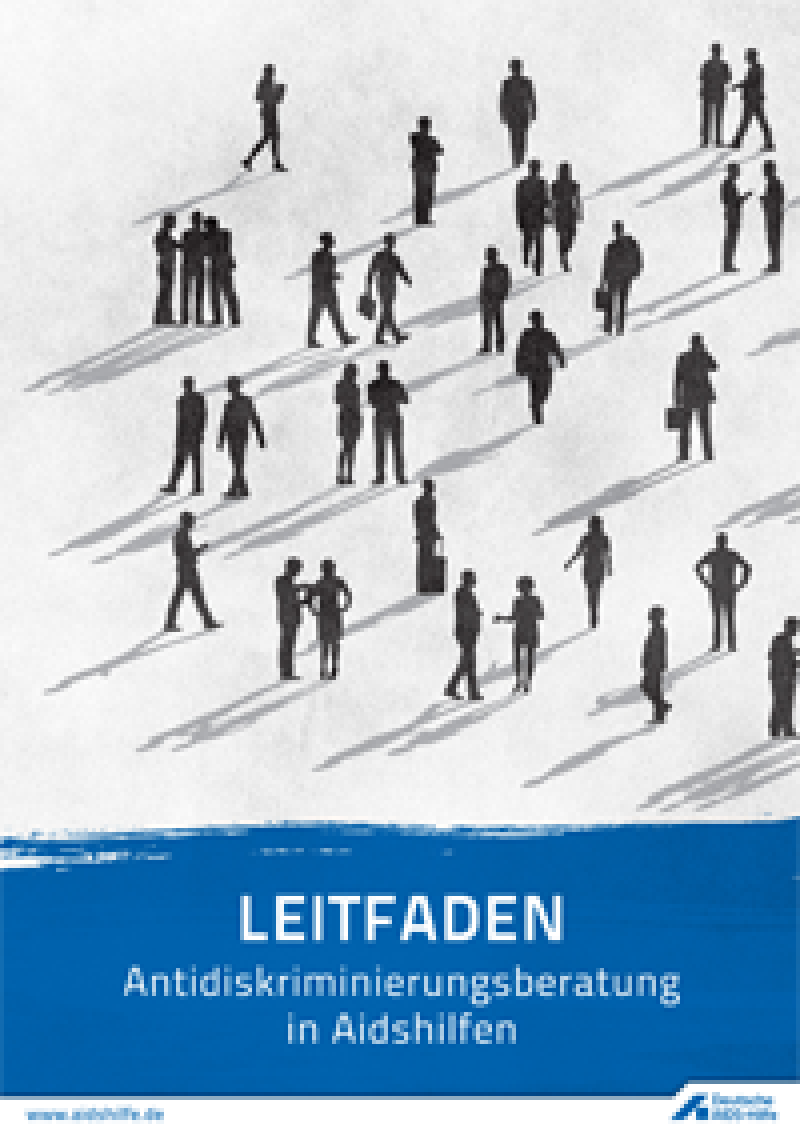 Umschlag Leitfaden Antidiskriminierungsberatung