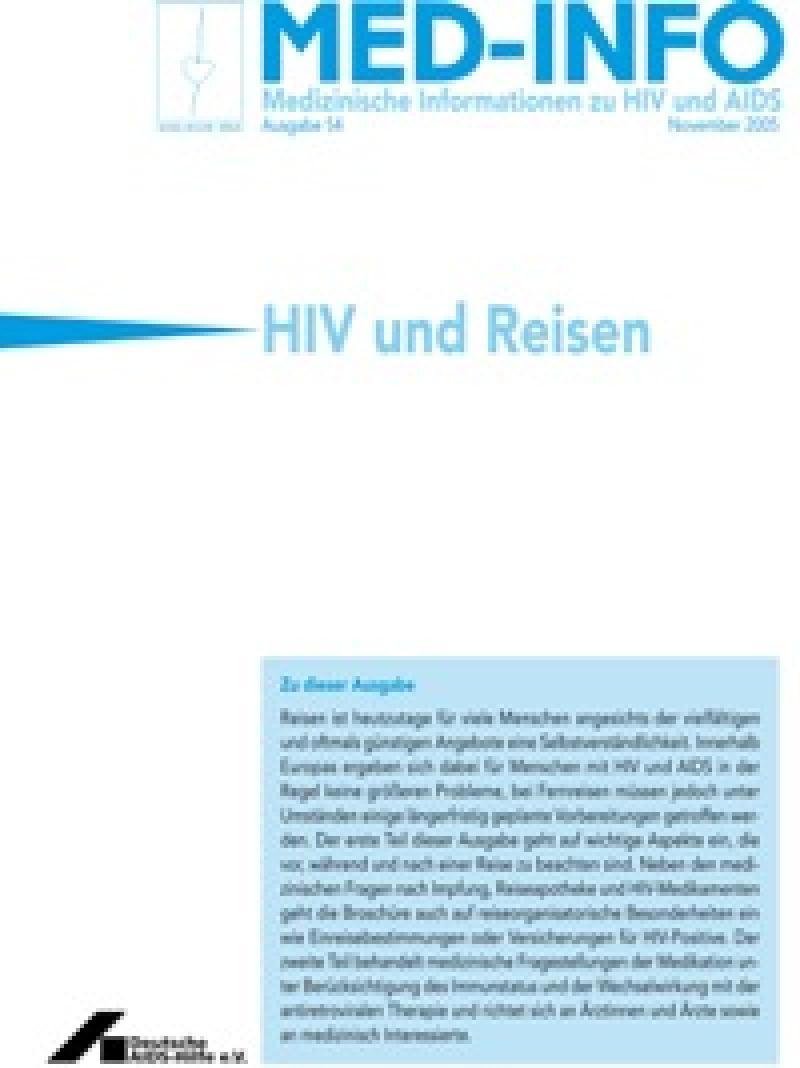 Med-Info Nr. 54 HIV und Reisen