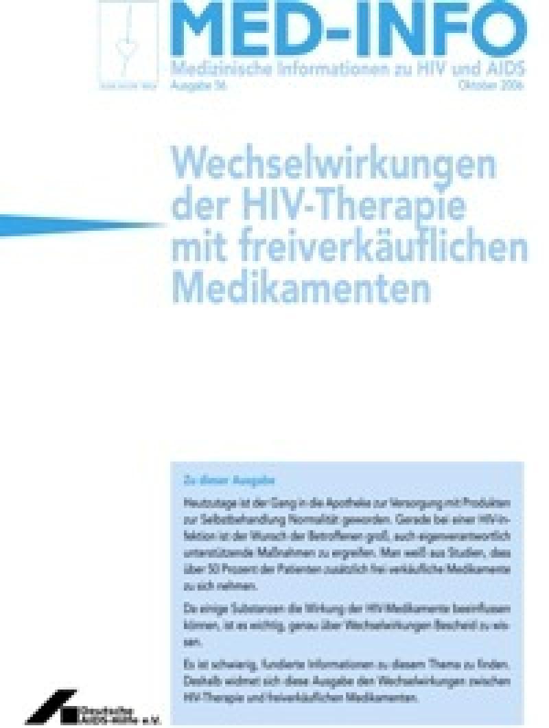 Med-Info Nr. 56 Wechselwirkungen der HIV-Therapie mit freiverkäuflichen Medikame