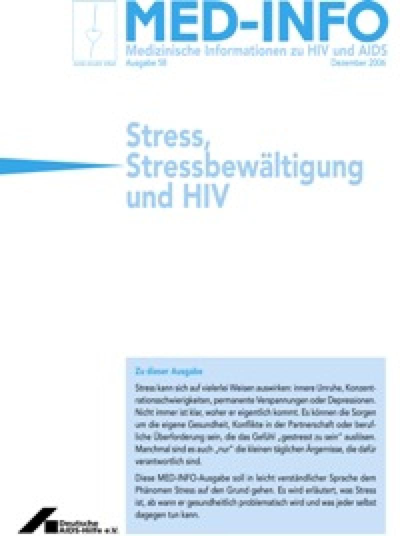 Med-Info Nr. 58 Stress, Stressbewältigung und HIV
