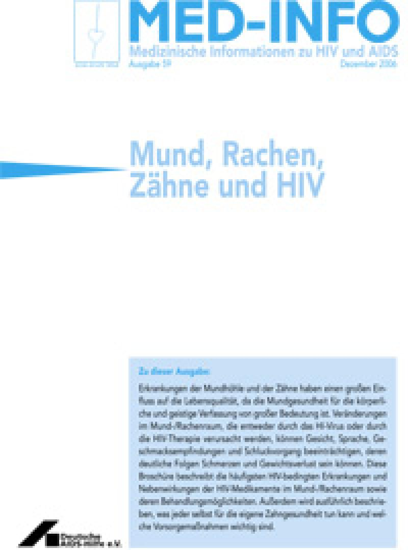 Med-Info Nr. 59 Mund, Rachen, Zähne und HIV