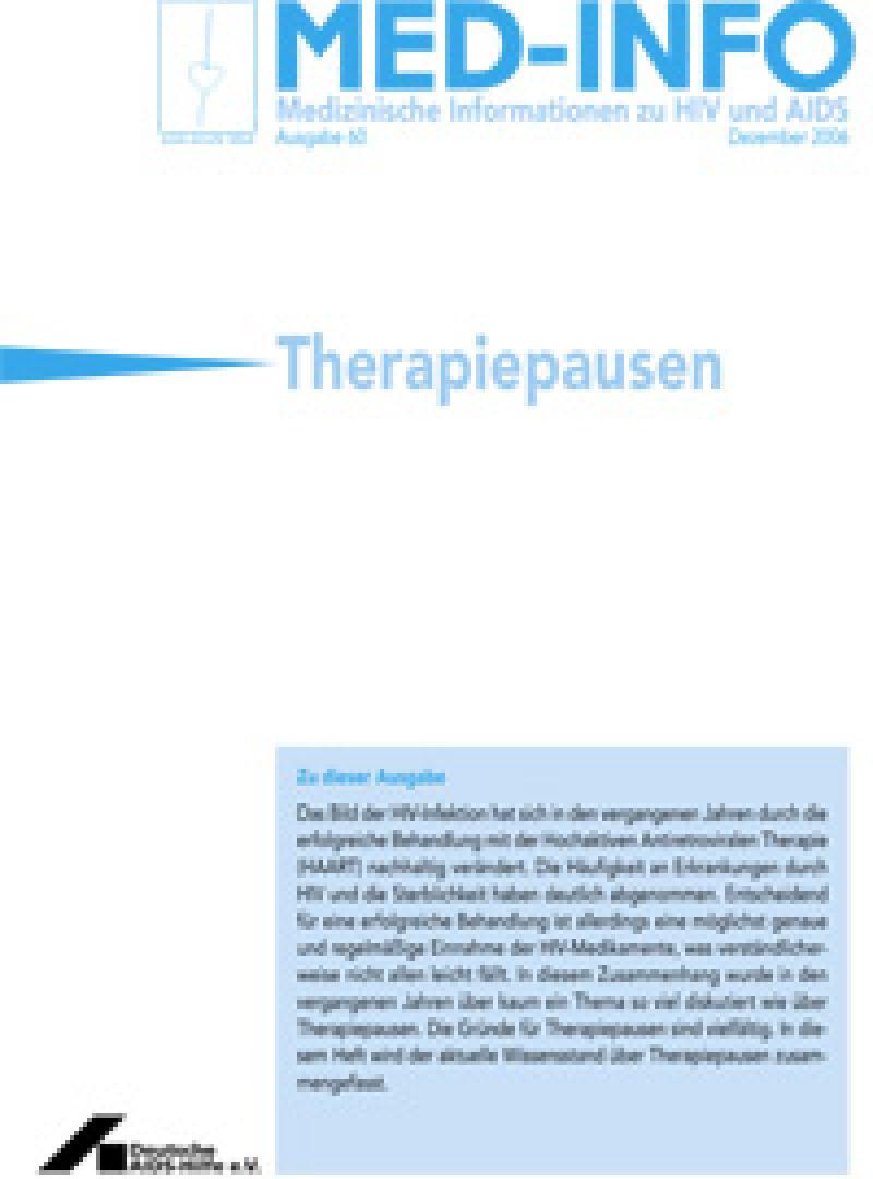 Med-Info Nr. 60 Therapiepausen