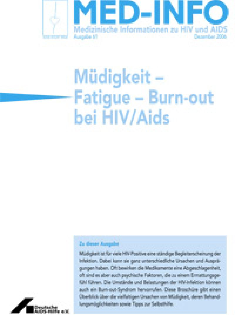 Med-Info Nr. 61 Müdigkeit – Fatigue – Burn-out bei HIV/Aids