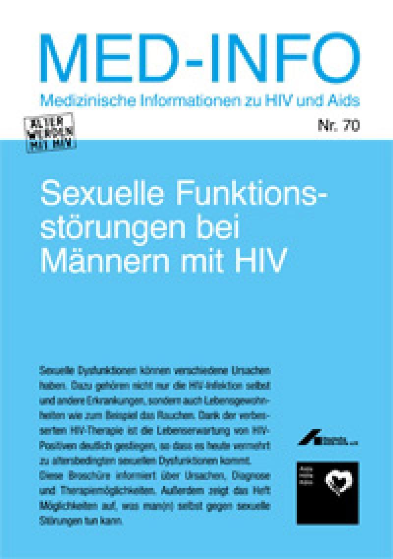 Med-Info Nr. 70 Sexuelle Funktionsstörungen bei Männern mit HIV
